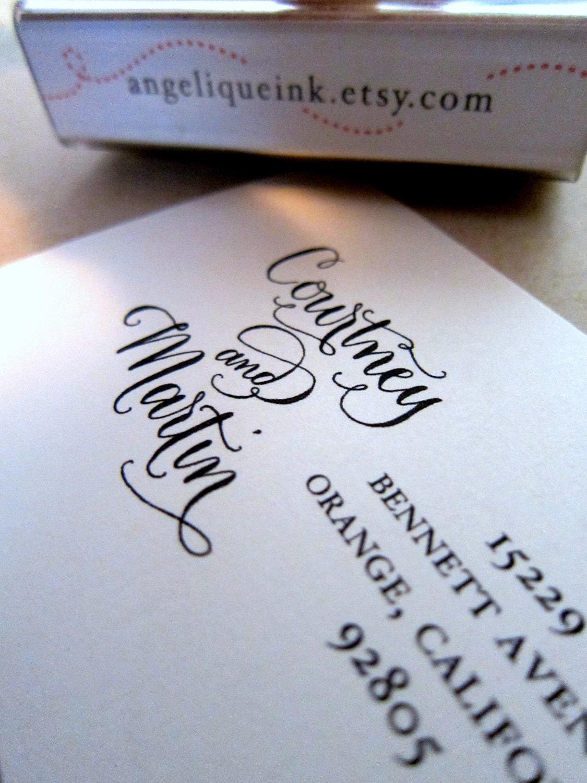 Custom Return Address Stamp Handwritten Calligraphy
