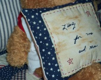 Liberty pillow Shelf sitter Basket filler Prim decor