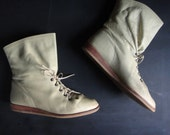 1970's vintage The Wild Pair leather lace up ankle booties