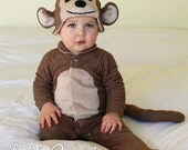 Monkey Baby Onesie Costume with Hat - Lil' Creatures