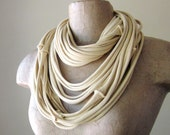 THE SEAMS cotton jersey scarf necklace in buttercream