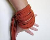 THE CUFF fabric cuff bracelet in burnt orange