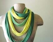 STANDARD cotton scarf necklace lemon lime