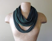 STANDARD cotton jersey scarf in shades of forest green - by EcoShag