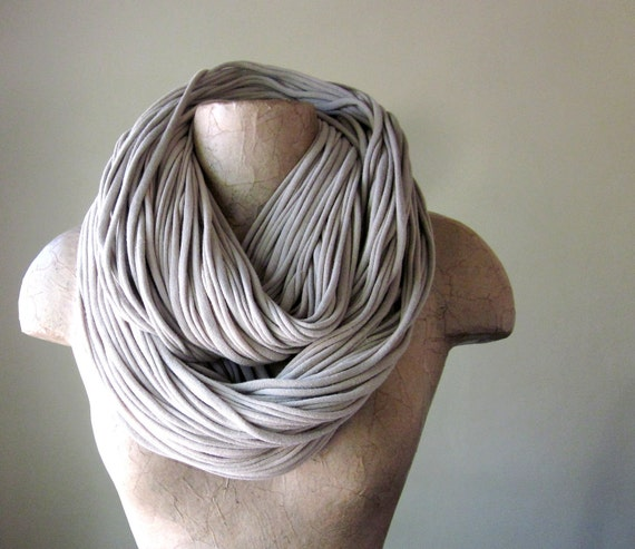 THE SUPER CHUNKY hand dyed cotton scarf in tan