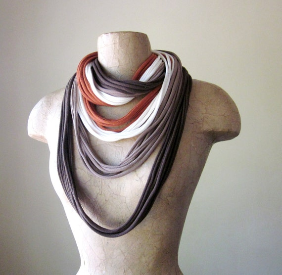 THE STANDARD cotton jersey scarf necklace in desert oasis