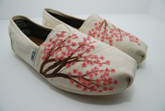 Cherry Blossom - CUSTOM TOMS SHOES for marcirosegutierrez