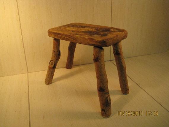 Rustic fireside stool