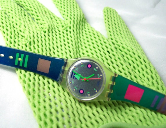 Reserved listing for FaerieGothic-  Ladies Swatch Watch- Stiffy from Fall/Winter 1991