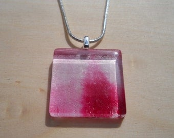 Hot Pink Square Pendant