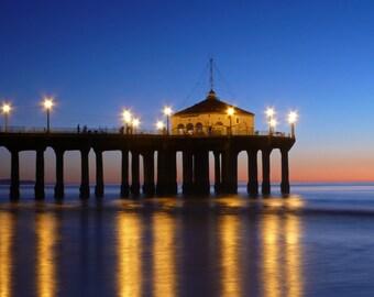 Manhattan Beach Pier Sunset Photo 8x10
