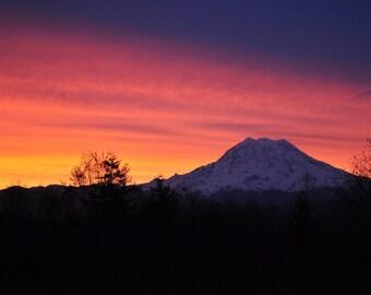 Mt Rainier Sunrise 8x10