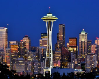 Seattle Skyline from Kerry Park Photo 8x10