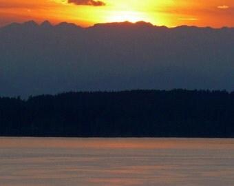 Magnolia Overlook Sunset Photo 8x10