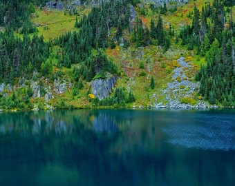 Lake Eunice Mt Rainier Photograph 8x10