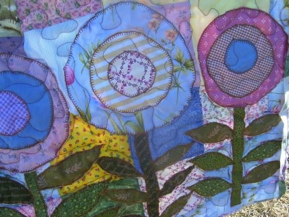 Spring flower lap quilt