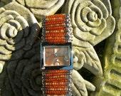 Orange and Gold Layered Watch