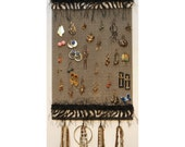 Zebra  Earring  and Jewelry Organizer (Necklace Holder and Jewelry Storage) Free Shipping