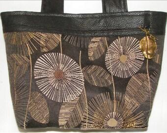 Itzy Bitz Tote of Flowing Dandelions  by Bellerina Creations (purse, handbag, pouch)