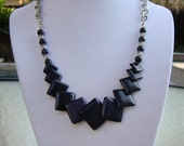 Handmade Blue-Goldstone Stone Layered Necklace - Free Shipping