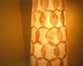 COFFEE FILTER ART - Pendant or Table Lamp Hanging Lamp Shade Lighting Hanging Pendant Light Rustic Lamp