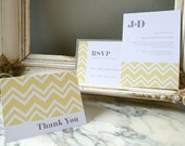 Custom DIY Wedding Printables - Chevron Wedding Suite