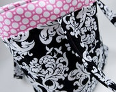 Black,White,and Pink DiaperBag