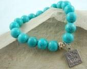 Beaded Bracelet Turquoise Friend Stretch Charm Stretch  Bracelet Great Gift