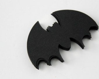 Black Bat Die Cuts - Batman Birthday - Set of 48