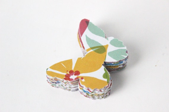 Colorful Butterfly Die Cuts - Bright Fruit Salad