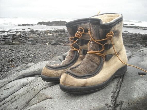 25% OFF SALE Vintage Bastien Bros Seal Skin Boots