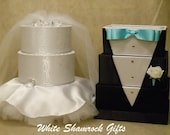 Reserved for Jeann1ee  - Bride/Groom Card Boxes