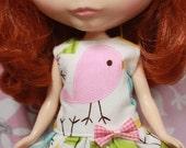 Lovely birds short dress (Pink)