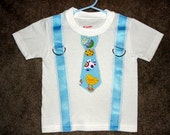 Boys Easter Shirt Suspender & Tie Sizes 6 month to 4T