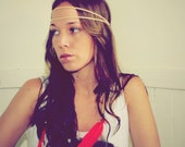 Handmade Leather Hippie Feather Headband, Hippie Tie Headband, Wear It Many Different Ways, Feather Extensions, Red Feathers