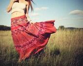 Elephants on Parade, Wrap Skirt, Hippie, Bohemian, Cotton, Tapestry, Sundress, Tribal Sun, Moon