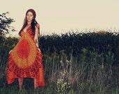 Handmade Fall Hippie Dress, Bohemian dress, Tapestry dress, Sundress, Scarf Dress, Chakra Fairy Dress, xsmall, Small, yoga