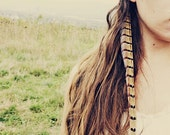 Handmade Extra Long Pheasant Feather Extension Hair Clip, 12 inches long, feather symbolism