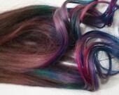 Handmade Dark Tye Dye Tips, 100% Human Hair Extensions, Festival Hair, Hair Trends, Dip Dyed Hair, Purple Hair