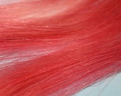 Peachy Pink, Human Hair Extensions, Colored Hair Extension Clip, Hair Wefts, Clip in Hair, Tie Dye Hair Extensions