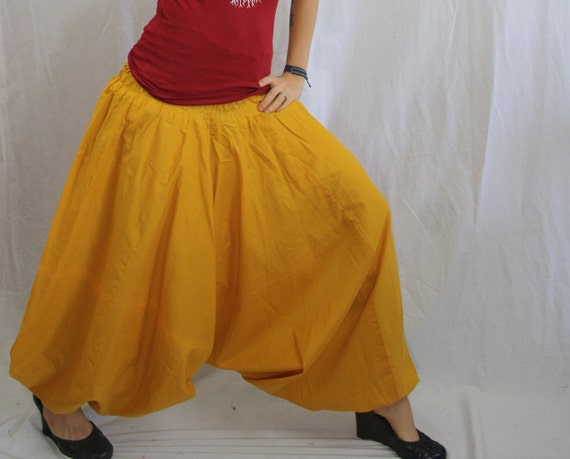 Handmade Mustard Yellow Harem Pants, Gypsy Pants, Aladdin, Romper, Genie, Boho, Hippie,Yoga