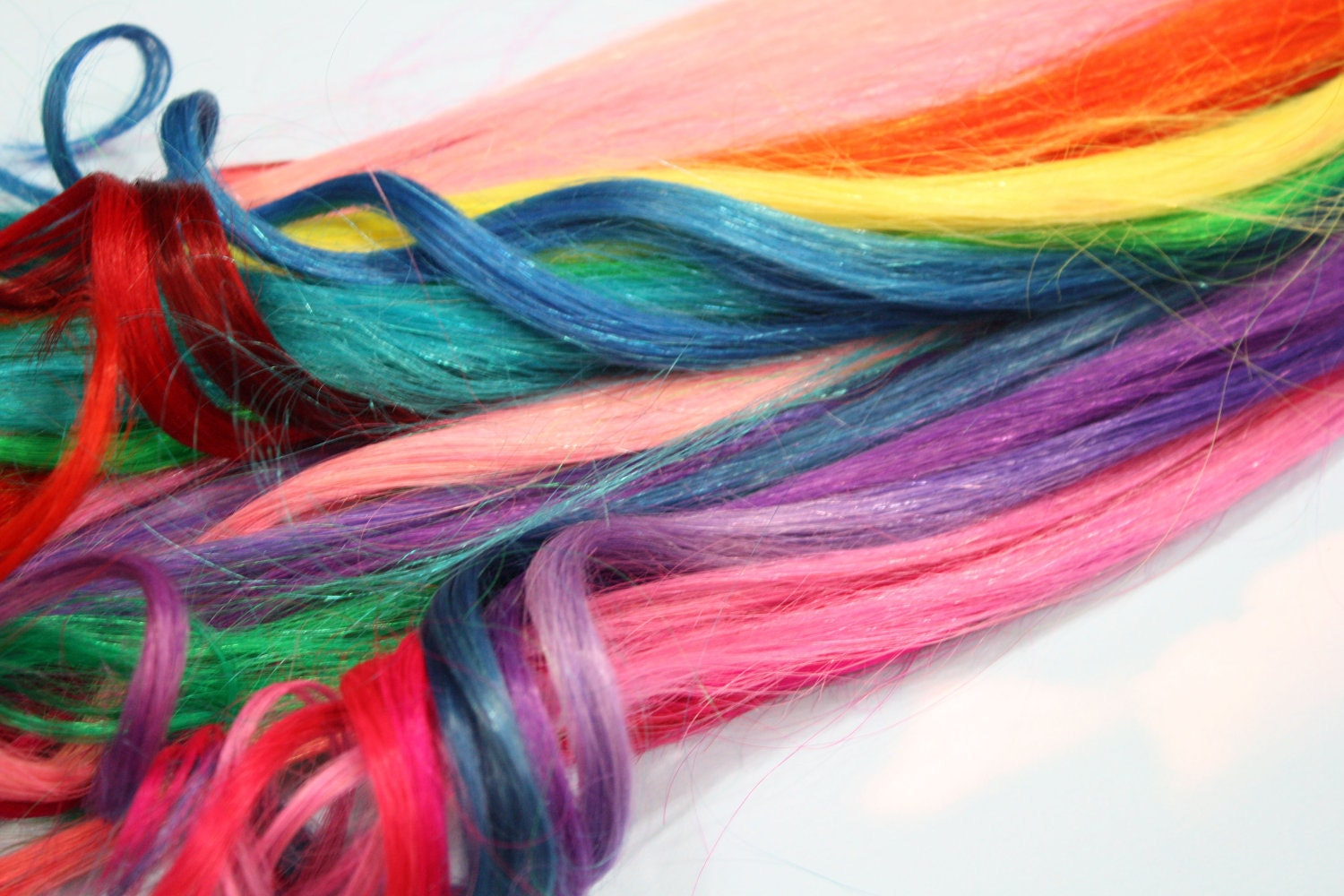 Rainbow human hair extensions colored hair extension clip zoom pmusecretfo Choice Image