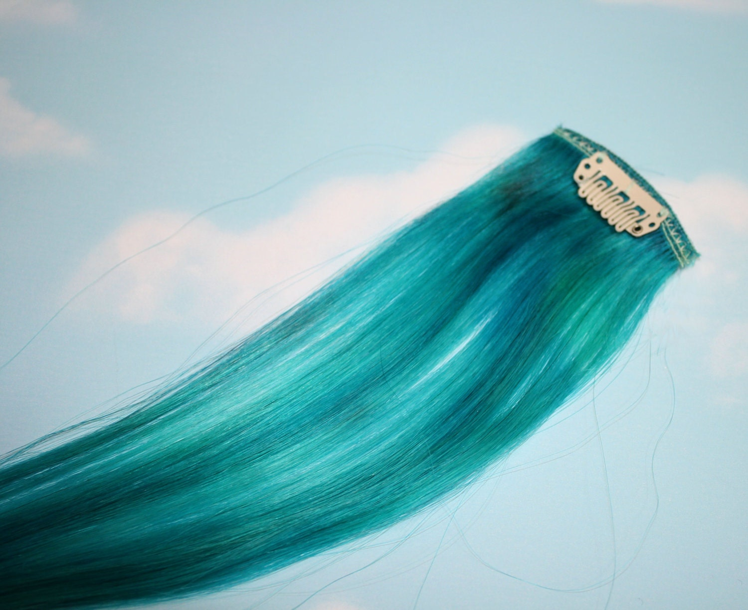 Turquoise hair extensions indian remy hair turquoise hair extensions pmusecretfo Images