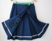 Vintage Lily Pad Skirt. by Sanibel. Size S/M