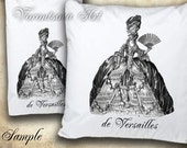 Marie Antoinette Image de VERSAILLES Transfer for PILLOWS, tea towels, appron, bags. Download and print 601