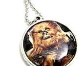 Star Wars Chewbacca and Han Solo: Double Sided Pendant Necklace