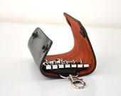 Leather Key Holder Black Handmade Chic Elegant