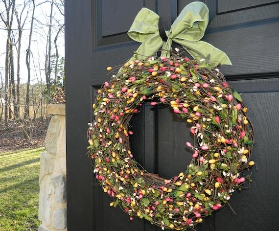 Spring Wreath - Outdoor Wreath - Green Wreath - Summer Wreath