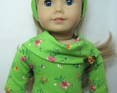 Cowl Neck Tee, Carpis Pant and Hair Band for 18 inch doll