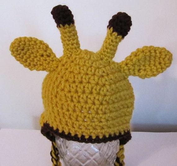Giraffe hat for baby 0-3 months